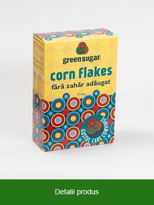 Corn Flakes cu Green Sugar